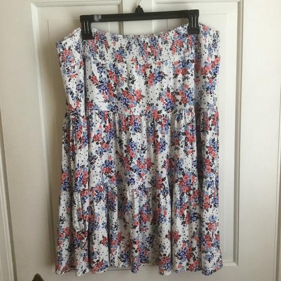 St. John's Bay Dresses & Skirts - Women's Soft Jersey Tiered Floral midi Skirt Plus